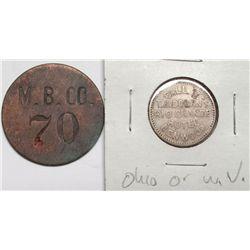 OK Corral token, Montgomery & Benson Company