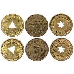 Three Elko Hotel tokens: Amistad, Elko & Commercial