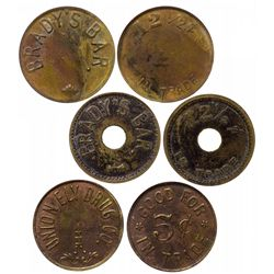 Three Ely tokens: Union and two Brady's