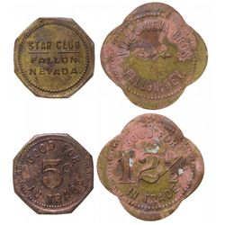 Two Falon Merchant tokens: Villanueva and Star Club