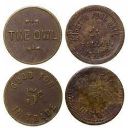 The Owl and Million Pool Hall tokens, Fallon