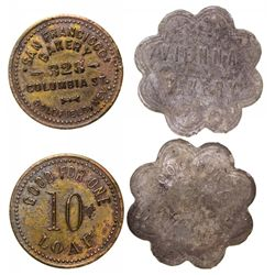 Two Goldfield Bakery tokens