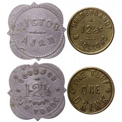 Hildebrandt & Obland and Turf Goldfield tokens