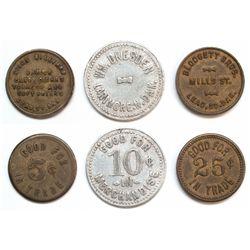 Lot of 3 Dakota tokens