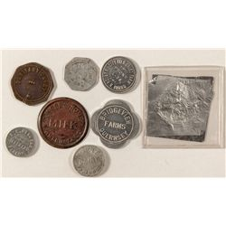 Last seven Dairy tokens from Mel Reiter's collection
