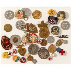 Pins, FOBs, tokens GRAB BAG (lot of 38!)