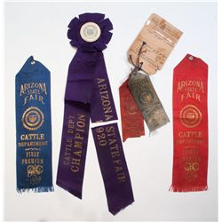 1917 and 1920 State Fair Ribbons