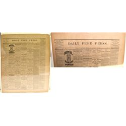 Bodie Daily Free Press nicely mounted on foam board