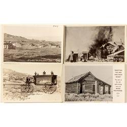 Four Bodie, CA Postcards