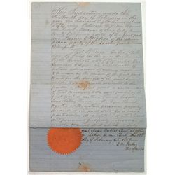 California Gold Rush Property Transfer Document-Amador, 1859