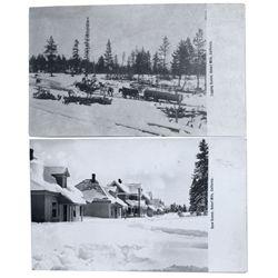 Pair of Hobart Mills post cards