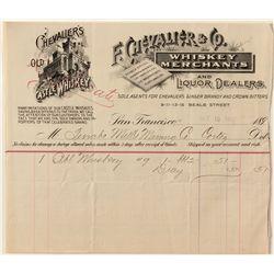 Whiskey Merchants Billhead Pair