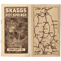 Skaggs Sonoma Co. Hot Springs Booklet
