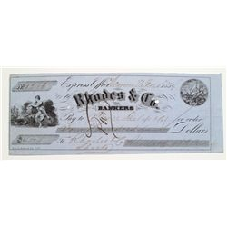 California Gold Rush Express Check-1854
