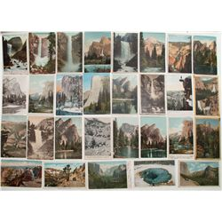 Yosemite Valley color post card collection