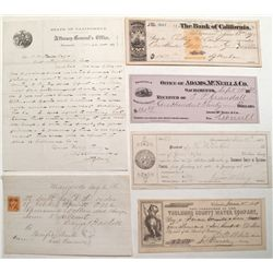 Six interesting California documents:1859-1881