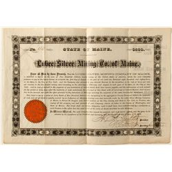 Mortgage Bond for Silver Mining Company of Maine