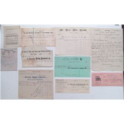 Nevada publishers Letterheads and Billheads