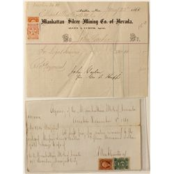 Two Austin mining documents with Nevada Revenue Stamps