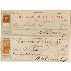 Bank of California Check Pair