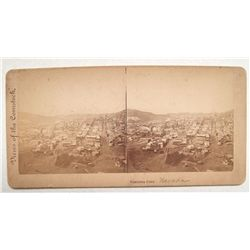Virginia City town stereo view