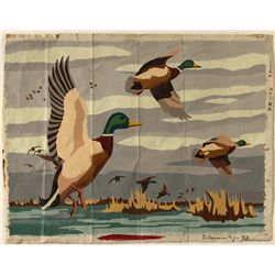 """Ducks in Flight"" watercolor by Don Dondero."