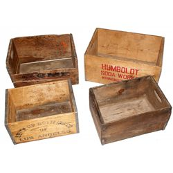 Four Original Wood Boxes