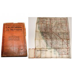California and Nevada Map