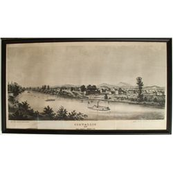 1858 early photograph of Corvallis (reprint)