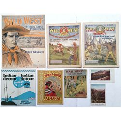 """Wild West"" lot of 8 old magazines, etc."