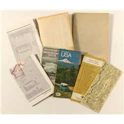 Assorted US Maps, Mostly Western