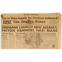 December 31, 1944 Los Angeles Times: Battle of the Bulge