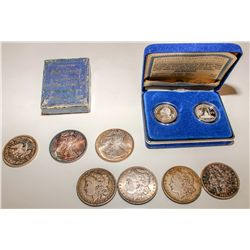 Morgan Dollars, Silver Rounds, and a proof