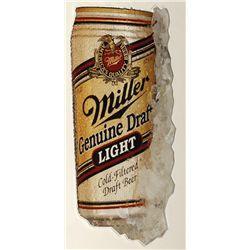 Metallic Miller Light sign