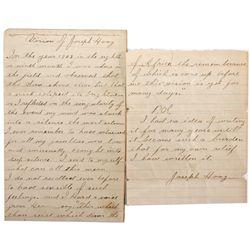 Joseph Hoag's Civil War Vision Letter