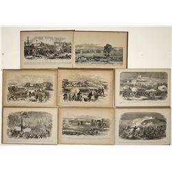 Civil War sketches: Battles,8 pieces