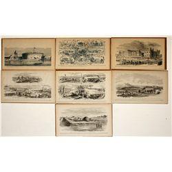 Civil War sketches: Places, 7 pieces