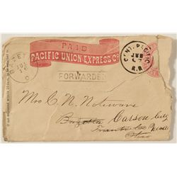 Rare CPRR on a Pacific Union Express Envelope