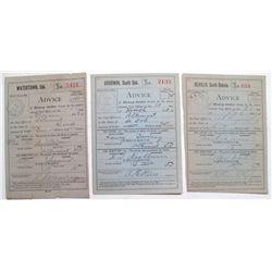 Goodwin, Revillo, Watertown Dakota postmarks on Money Order withdrawal.
