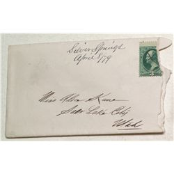 Rare Silver Springs manuscript cover with letter
