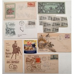 Pony Express, etc. covers and stamps