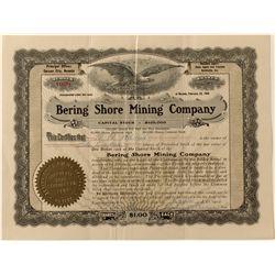 Bering Shore Mining Co. Stock Certificate