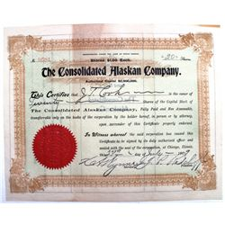 The Consolidated Alaskan Company Stock Certificate