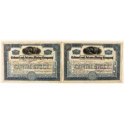 Bisbee Stock Certificates