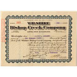 Wilshire Bishop Creek Stock