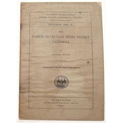 Darwin Mining District Report -Inyo County, 1914