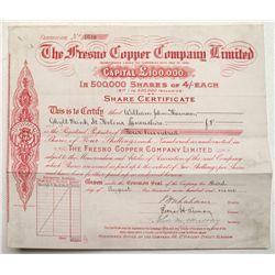 Fresno Copper Company, Ltd. Stock