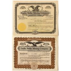 Lucky Strike Mining Co. Stock Certificate Pair