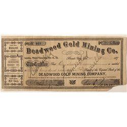 Deadwood Gold Mining Co. Stock Certificate