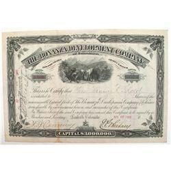Bonanza Development Company of Colorado Stock Certificate